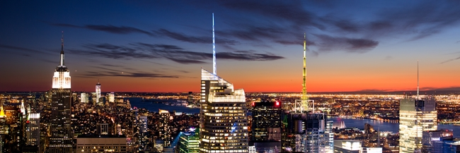 New York City - Manhattan skyline - sunset - Darren Johnson - 650 x 217